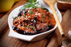 Grilled eggplant with spices Stock Images