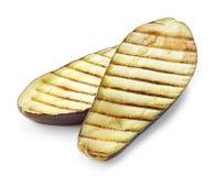 Grilled eggplant on white background Royalty Free Stock Photos