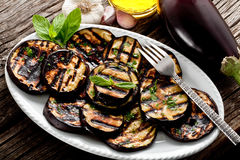 Grilled eggplants Stock Images
