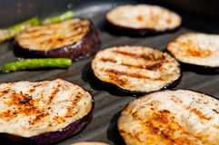 Grilled Eggplants And Asparagus Stock Image