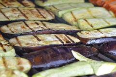 Grilled eggplants Stock Image