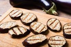 Grilled Eggplants Seasoned Royalty Free Stock Photo