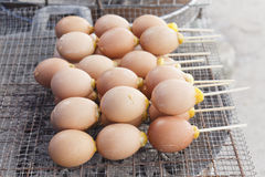 Grilled eggs Stock Photography