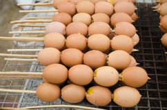 Grilled eggs. On Thailand street foods Stock Photography