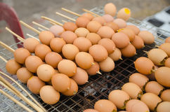 Grilled eggs. On Thailand street foods Stock Images