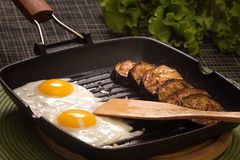 Grilled eggs Royalty Free Stock Images