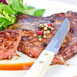 Grilled entrecote Stock Images