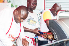 Grilled festival of Abidjan. Royalty Free Stock Photography