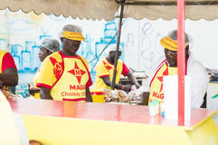 Grilled festival of Abidjan. Royalty Free Stock Photos