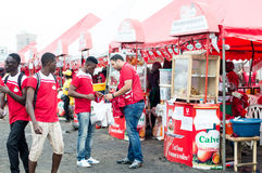 Grilled festival of Abidjan. Royalty Free Stock Images