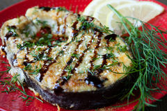 Grilled Fillet Of Fish Escolar Royalty Free Stock Photos