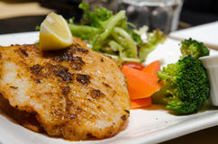Grilled fillet with vegetables Royalty Free Stock Image