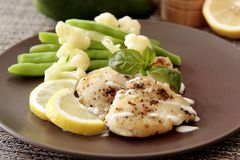 Grilled Fish Royalty Free Stock Images