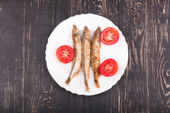Grilled fish capelin Royalty Free Stock Photos