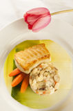 Grilled fish dinner. Royalty Free Stock Photography