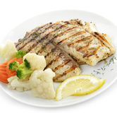 Grilled Fish Fillet Royalty Free Stock Images