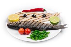 Grilled fish fillet. Stock Images