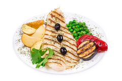 Grilled fish fillet. Stock Image