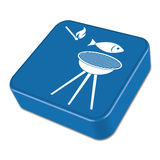 Grilled fish icon. Vector illustration Stock Image