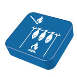 Grilled fish icon. Vector illustration Royalty Free Stock Images