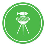 Grilled fish icon. Vector illustration Royalty Free Stock Photography