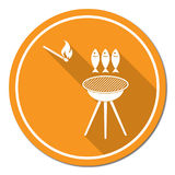 Grilled fish icon Stock Photos