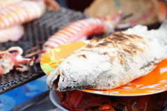 Grilled fish on sale Stock Photos