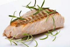 Grilled fish, salmon steak Royalty Free Stock Image