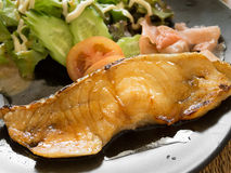 Grilled fish with soy sauce Royalty Free Stock Photo