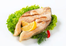 Grilled fish steak Stock Photography