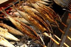 Grilled fish (Steckerlfisch) in Munich Oktoberfest Stock Image