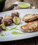 Grilled fish Royalty Free Stock Photos