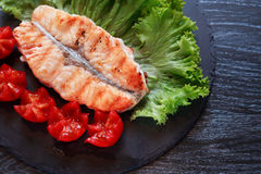 Grilled Fish And Vegetables Royalty Free Stock Images