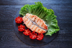Grilled Fish And Vegetables Royalty Free Stock Image