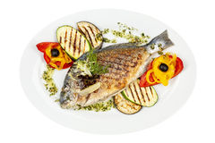 Grilled fish Stock Images