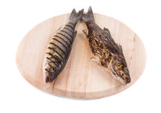 Grilled fishes Stock Photos