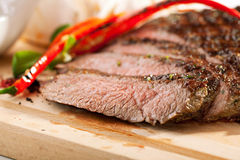 Grilled Flank Steak Stock Image
