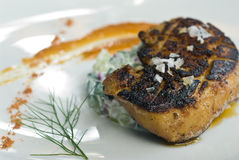 Grilled Foie gras Royalty Free Stock Photography