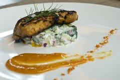 Grilled Foie gras Stock Photo