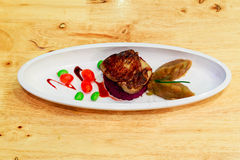 Grilled foie gras or goose liver Stock Photography