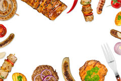 Grilled food background Royalty Free Stock Photos
