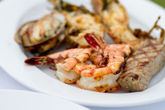 Grilled Food on plate Royalty Free Stock Photo