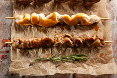 Grilled Foods on Parchment Stock Photography