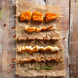 Grilled Foods on Parchment Stock Image