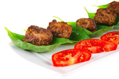 Grilled French Meat Balls Stock Photos