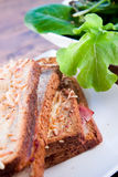Grilled french sandwich with salad Royalty Free Stock Photo