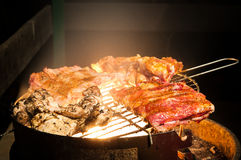Grilled fresh meat Stock Photography
