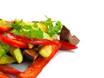 Grilled fresh meat and vegetables Royalty Free Stock Photo