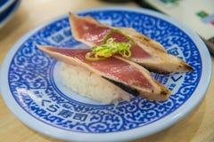 Grilled fresh tuna fish sushi Royalty Free Stock Photo