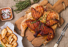 Grilled fried roast Chicken tobacco Stock Photography